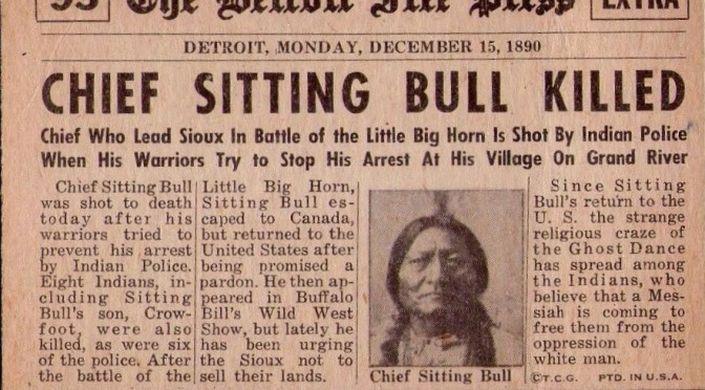 Sitting Bull Biographie Tombe Citations Forum